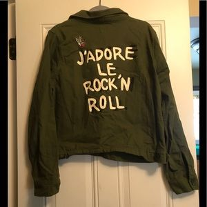 F21 Military Rock and Roll Jacket ✌🏻🎸